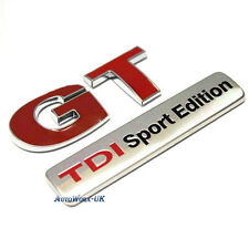 New Red GT TDI Sport Edition Badge Emblem Decal Sticker Boot Rear Tailgate Trunk