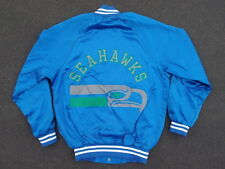 Vintage 80s Seattle Seahawks Satin Jacket Size 14 / 16 Womens S Made in USA