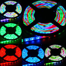 5M 300LED SMD 5050 RGB Waterproof Flexible Strip Light + Remote +US Power Supply