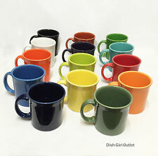 Fiestaware Coffee Java Mugs set of (2) you choose your two colors!