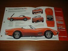 ★★1969 CHEVY CORVETTE ORIGINAL IMP BROCHURE SPECS INFO 69 427 L71 CONVERTIBLE★★