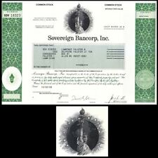 Sovereign Bancorp, Inc. Pa 2008 Stock Certificate