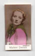 Marlene Dietrich 1935 Bridgewater Cookies 4th Series Film Star Card #37