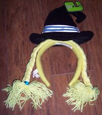 Witch headband,funny,yellow-haired,Halloween costume accessory,playtime,pretend