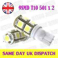 9 LED SMD T10 501 168 W5W Bulbs HID Xenon white x 2