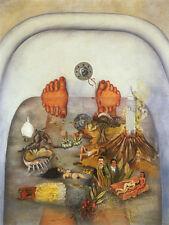 What the Water Gave Me  by Frida Kahlo  Paper Print Repro