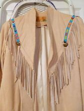 Char and Sher Vintage Beaded Deerskin Jacket - Size 6
