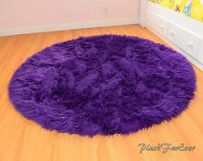"Royal purple 60"" faux fur rug nursery area throw rug girl or boy babyroom rugs"