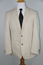 MINT KROON Men's Beige Tan Silk Linen Blend 3 Button Blazer Sport Coat 40R