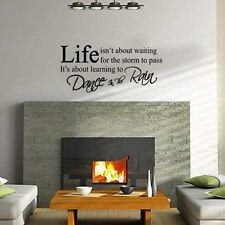 LIFE Letter Word Removable Art Vinyl Decal Wall Sticker Home Decor Mural DIY PVC