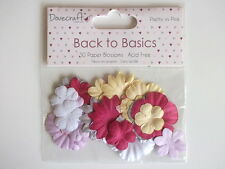 Dovecraft Back to Basics Pretty in Pink 30 Paper Blossoms - flowers pink purple