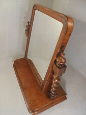 Antique Tiger Oak Swing Mirror , Dresser Mirror    ref 777