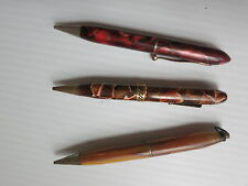 Lot of 3 Vintage Pocket-sized Mechanical Pencils Marbelized Barrels COOL!