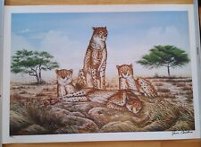 """"""" Cheetahs """"  Signed by the Artist Jim Collins     Limited Edition of 1200"""