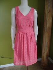 NWT $130 BANANA REPUBLIC Mad Men  CORAL LACE Sheath DRESS 10