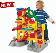 Fisher Price Little People Stand 'n Play Race Track Sound Rolling Kids Boy Toy