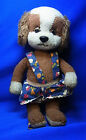 Vintage German Stuffed Animal Schuco Dog with Clothes #U