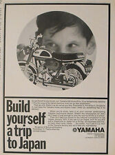 1969 Revell Yamaha 350 Grand Prix Bike 1.18 Scale Model Kit Toy Memorabilia AD