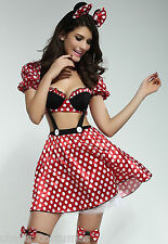 MICKEY MINNIE MOUSE DISNEY FAIRY TALE FANCY DRESS HALLOWEEN COSTUME 8 10 12