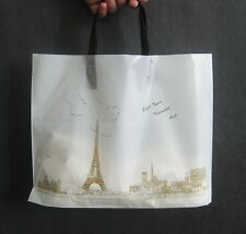 Lot 50 pcs Eiffel Tower Plastic Shopping Gift Bags For Gift Shopping Jewelry