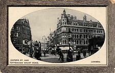 POSTCARD   LONDON  Oxford  St  and  Tottenham  Court  Road