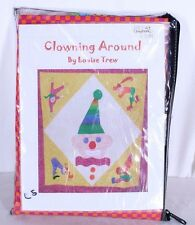 "Baby Quilt Kit Clowning Around Clown 42 x 42"" Louise Trew Passions Vtg 2007"