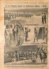 King Alphonse/Alfonso XIII of Spain Parade Soldiers Tolède Toledo WWI 1916