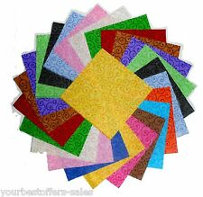Charm Packs Quilting Fabric Swirl Fabric Colorful Quilting Fabric Squares 5''