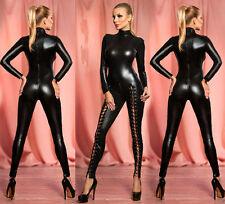 SEXY PVC LINGERIE CATWOMAN Party Fancy Dress COSTUME Catsuit Jump suit 767 M-XXL