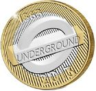 2013 £2 LONDON UNDERGROUND ROUNDEL 150TH TWO POUND COIN HUNT 26/32 RARE c