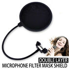 LARGE Dual Layer Record Studio Microphone Mic Windscreen Pop Filter Mask Shield