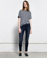 RAG AND BONE SAMURAI DARK INDIGO CUSTOMISED MATERNITY JEANS W26 UK 8