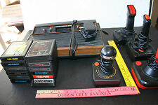 ATARI 2600 4 SWITCH console lot 12 GAMES PAC-MAN ASTEROIDS DEFENDER +