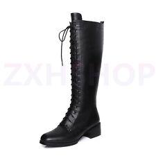 Frauenstiefel Schwarz Stiefel Schnürstiefel Mit Reißverschluss Damenstiefel Mode