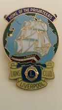 Lions Club Pin Liverpool Boar Privateers pirate boat Vintage Lion Collectible
