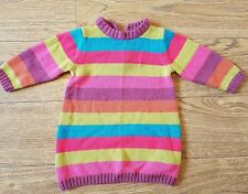 Baby girl rainbow multi coloured jumper dress 3-6 months Next