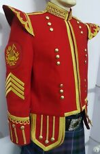 Pipe Major Doublet Red, With Golden Braid & Trim.