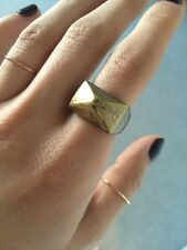 NWOT Urban Outfitters Bronze Stud Ring Size 7 Geometric Art Deco
