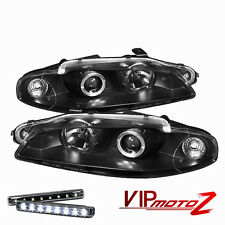 LED LIGHT BAR KIT   JDM Black Halo Projector Headlight 97-99 Eclipse Turbo
