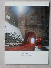 aa Vecchia cartolina foto d epoca di CITTADELLA NOTTURNO INVERNALE ARCO PORTA