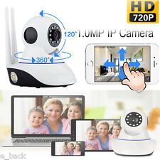 Wireless HD 720P Night Vision Security Pan Tilt Webcam Two way WiFi IP IR Camera