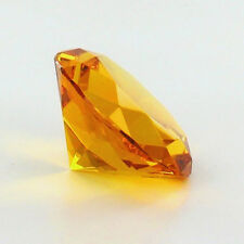 60mm Amber Yellow Crystal Diamond Paperweight Glass Gem Display Ornament Gift