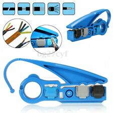 Coax Coaxial UTP Cat5e Cat6 RG6/RG59/RG11 Cable Wire Strip Stripper Cutter Tool