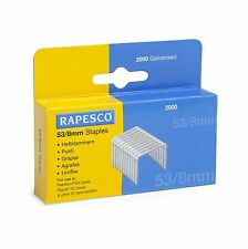 RAPESCO 53/8mm STAPLES - Staple Gun Tacker Staples Heavy Duty (Box 2,000)