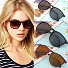 Unisex Womens Mens Retro Vintage Cat Eye Round Glasses Metal Frame Sunglasses BE