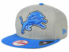Detroit Lions New Era Heather Grand Logo XL Gray Field Snapback Hat Cap NFL