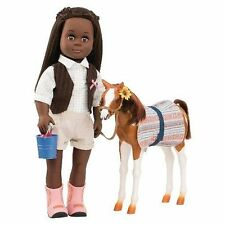 Our Generation Foal Horse - Pinto Paso Girls Toys Accessories Saddle Bridle Feed