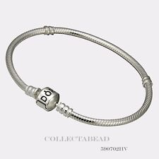 Authentic Pandora Sterling Silver Bracelet with Pandora Lock 7.9 590702HV