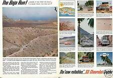 1962 2 Page Print Ad of 1963 Chevrolet Chevy Pickup Truck Baja Run