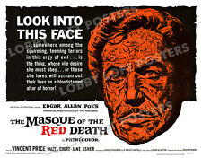 THE MASQUE OF THE RED DEATH LOBBY CARD POSTER HS 1964 VINCENT PRICE HAZEL COURT